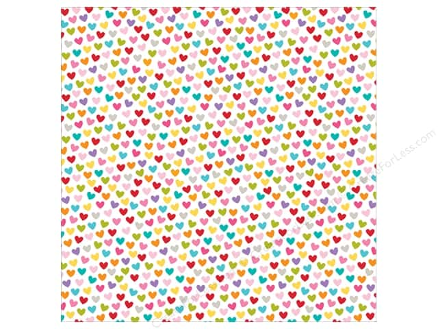 Bella Blvd Clear Cuts Transparency 12 x 12 in. Color Chaos Hearts Colorful (12 sheets)