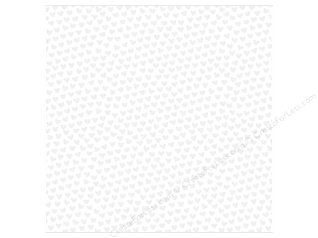 Bella Blvd Clear Cuts Transparency 12 x 12 in. Color Chaos Hearts White (12 sheets)