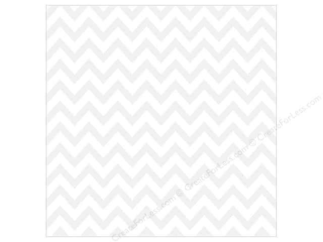 Bella Blvd Clear Cuts Transparency 12 x 12 in. Color Chaos Chevies White (12 sheets)