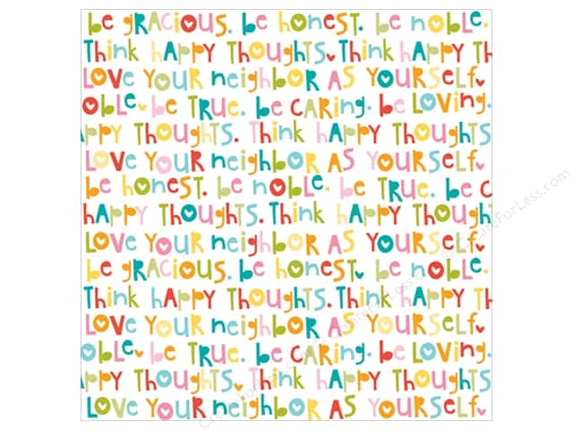 Bella Blvd Clear Cuts Transparency 12 x 12 in. Illustrated Faith Whatever Is Lovely Whatever is True (12 sheets)