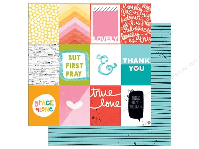 Bella Blvd 12 x 12 in. Paper Illustrated Faith Whatever Is Lovely 3 x 4 Cards (25 sheets)