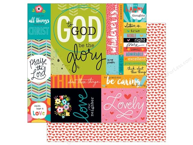 Bella Blvd 12 x 12 in. Paper Illustrated Faith Whatever Is Lovely Art Prints (25 sheets)
