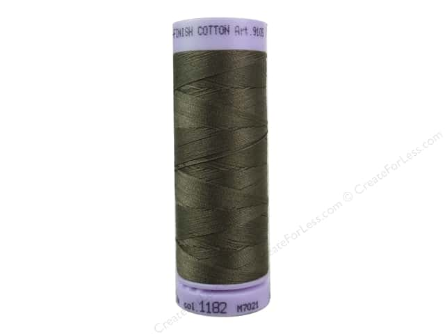 Mettler Silk Finish Cotton Thread 50 wt. 164 yd. #1182 Pine Park