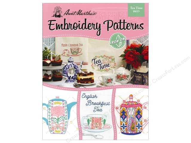 Aunt Martha's Embroidery Transfer Tea Time Book