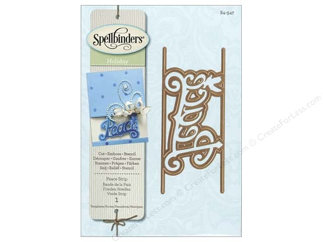Spellbinders Shapeabilities Die Peace Deco Strip