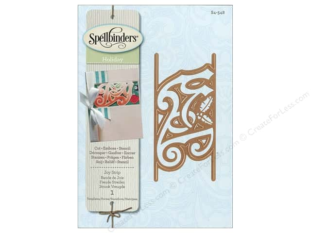 Spellbinders Shapeabilities Die Joy Deco Strip