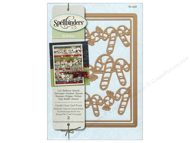 Spellbinders Die Card Creator Candy Cane Card Front