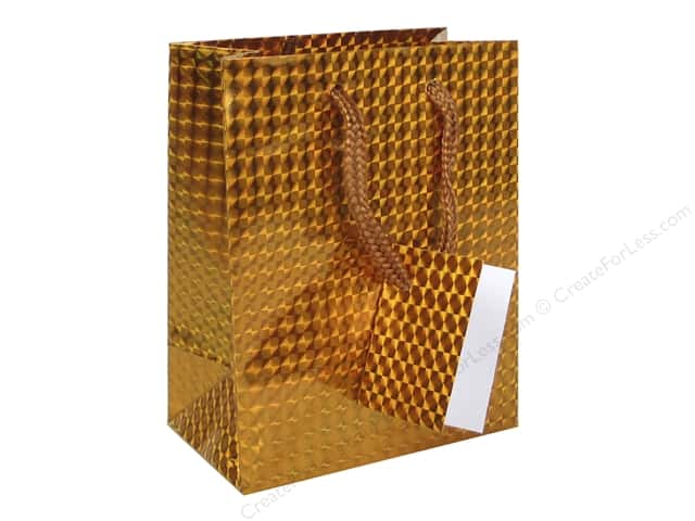 Darice Gift Bag 4 1/2 x 5 1/2 in. Hologram Gold