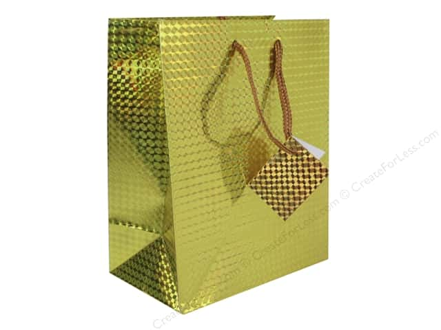 Darice Gift Bag 7 x 9 in. Hologram Gold