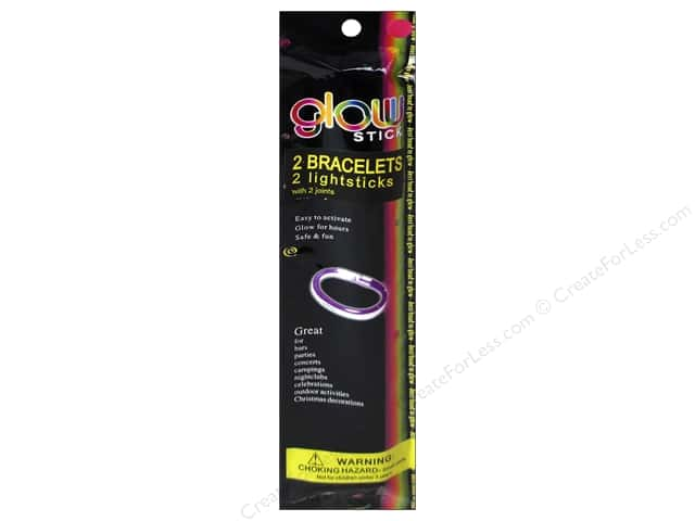 Darice Glow Stick Bracelet 2 pc. Assorted Color
