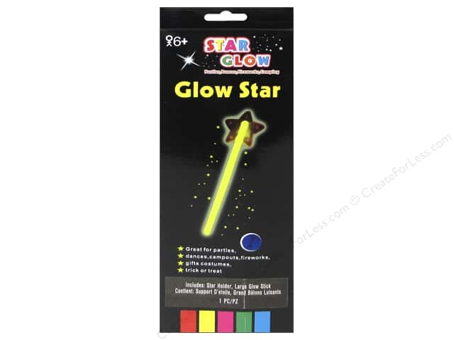 Darice 13 in. Glow Star 1 pc.  Assorted Color