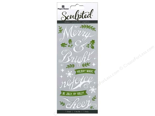 Paper House Sticker 3D Puffy Merry & Bright