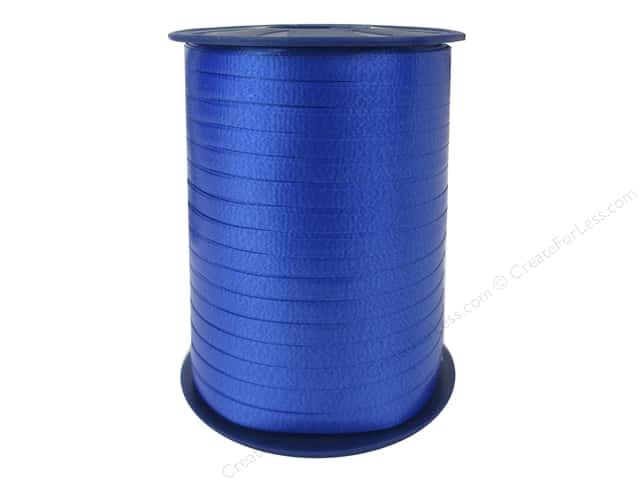 Morex Crimped Curling Ribbon 3/16 in. x 500 yd. Royal