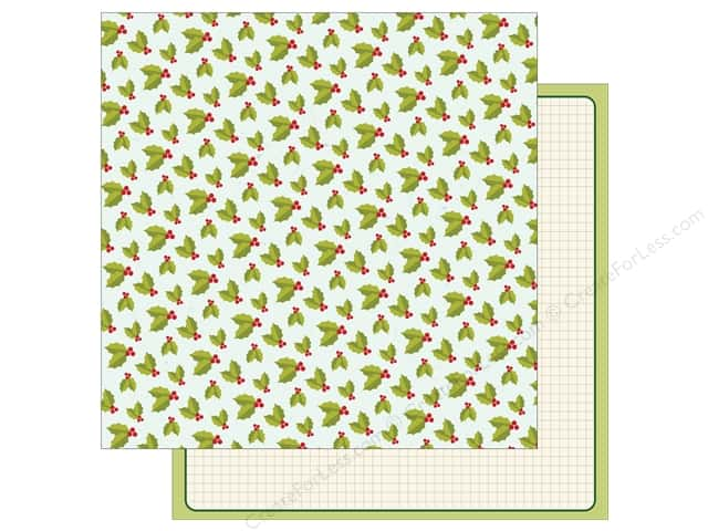 American Crafts 12 x 12 in. Paper Shimelle Christmas Magic Holly (25 sheets)