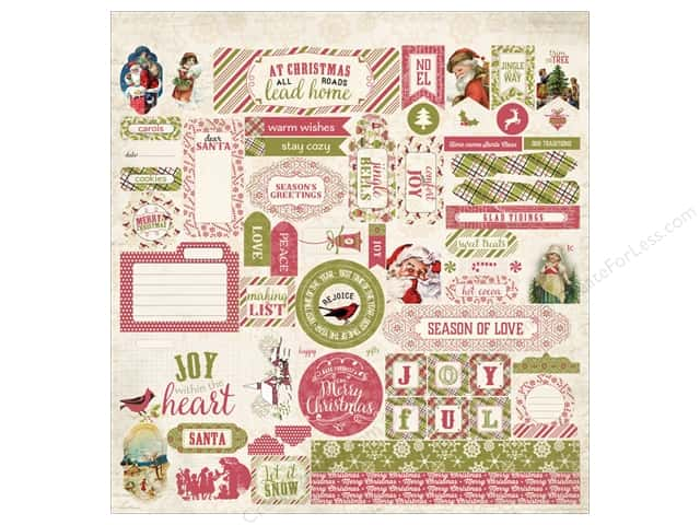 Authentique Stickers Christmastime Detail (12 sets)