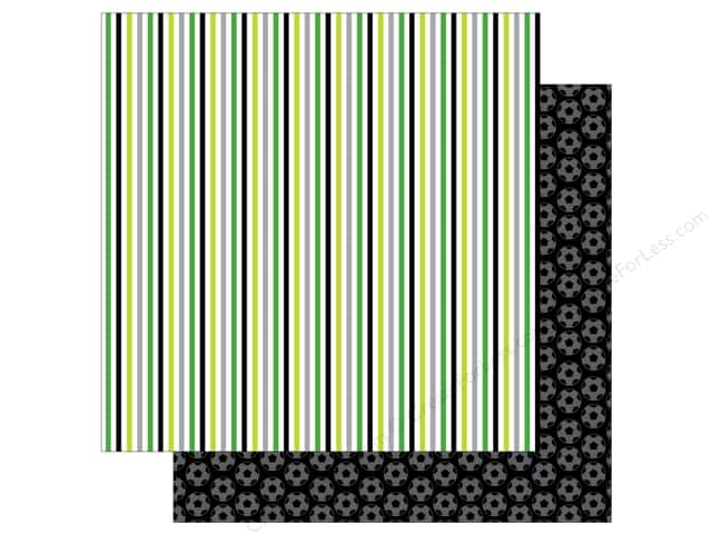 Doodlebug 12 x 12 in. Paper Goal Soccer Stripes (25 sheets)