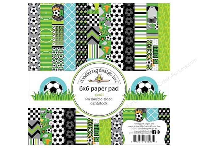 Doodlebug 6 x 6 in. Paper Pad Goal Collection