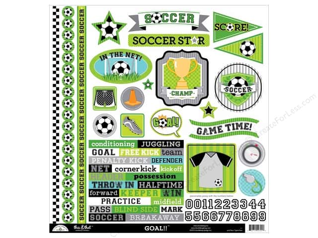 Doodlebug Sticker Goal This & That (12 sheets)