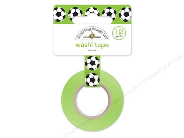 Doodlebug Washi Tape 5/8 in. x 12 yd. Goal Soccer