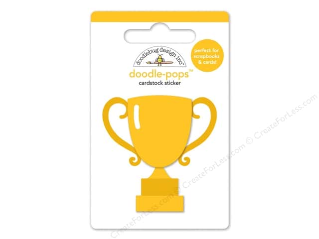 Doodlebug Doodle-Pops 3-D Stickers Slam Dunk Trophy