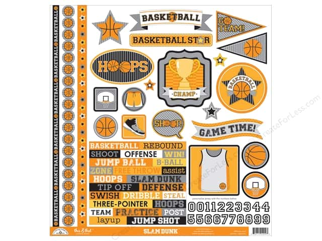 Doodlebug Sticker Slam Dunk This & That (12 sheets)