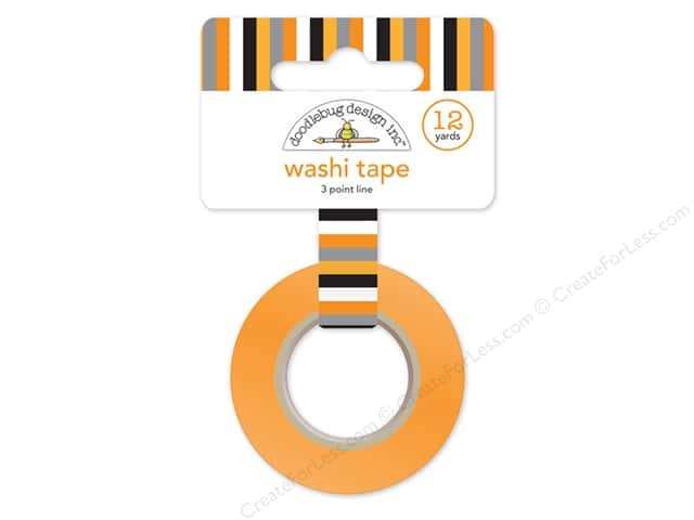 Doodlebug Washi Tape 5/8 in. x 12 yd. Slam Dunk 3 Point Line