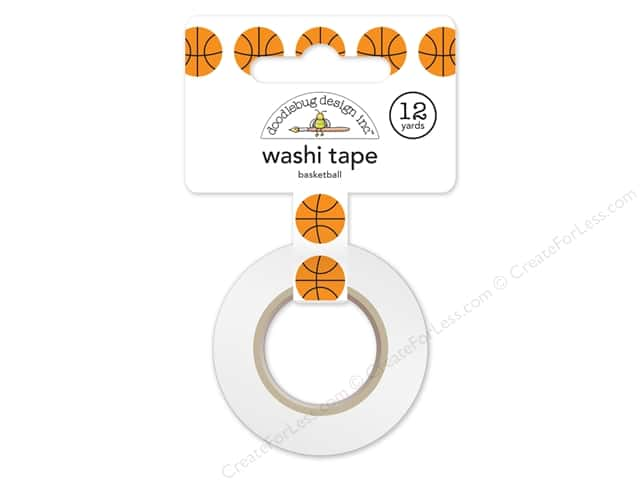 Doodlebug Washi Tape 5/8 in. x 12 yd. Slam Dunk Basketball