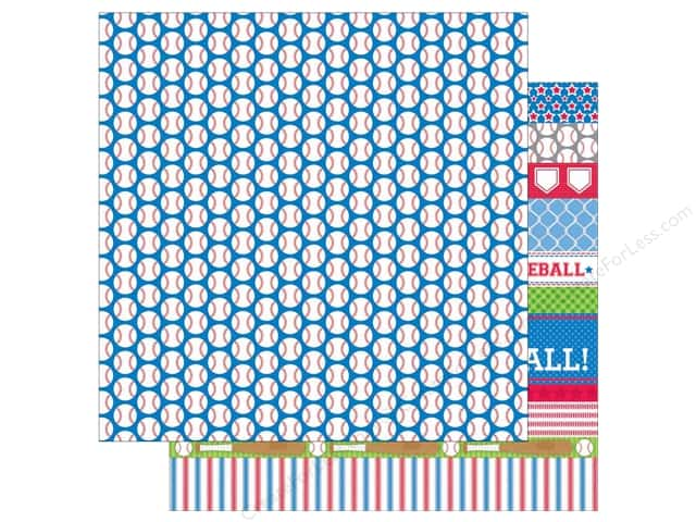 Doodlebug 12 x 12 in. Paper Home Run Baseballs (25 sheets)