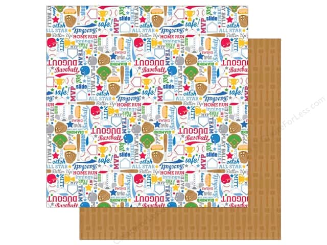 Doodlebug 12 x 12 in. Paper Home Run Play Ball (25 sheets)