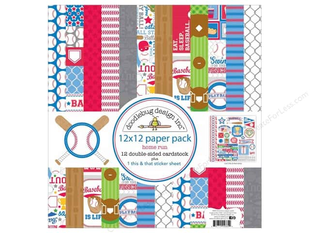 Doodlebug 12 x 12 in. Paper Pack Home Run