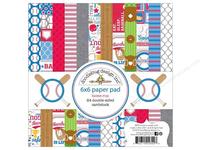 Doodlebug 6 x 6 in. Paper Pad Home Run