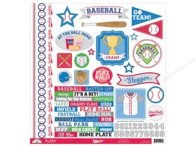 Doodlebug Sticker Home Run This & That (12 sets)