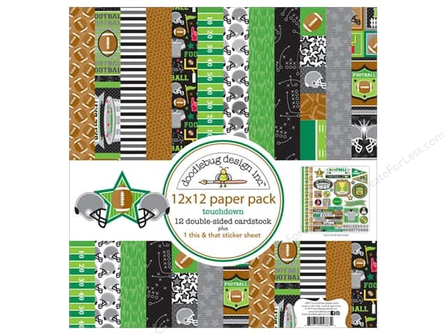 Doodlebug 12 x 12 in. Paper Pack Touchdown