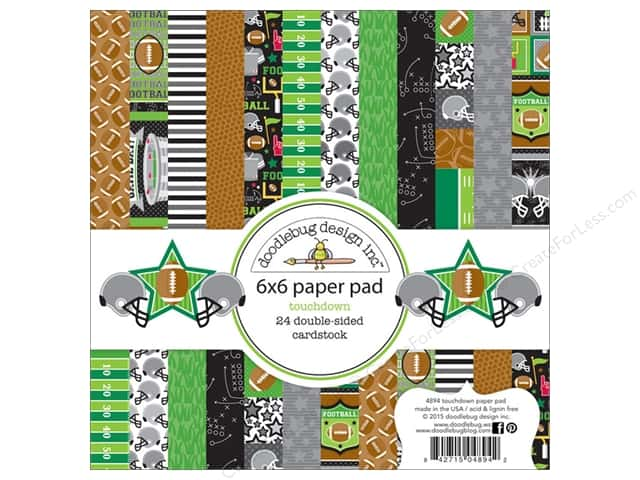 Doodlebug 6 x 6 in. Paper Pad Touchdown