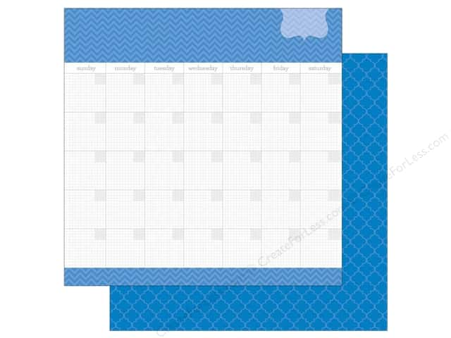 Doodlebug 12 x 12 in. Paper Daily Doodles Blue Jean (25 sheets)