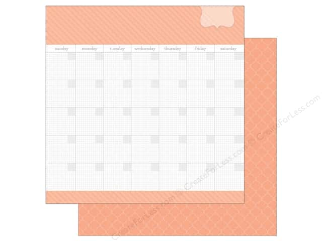 Doodlebug 12 x 12 in. Paper Daily Doodles Coral (25 sheets)