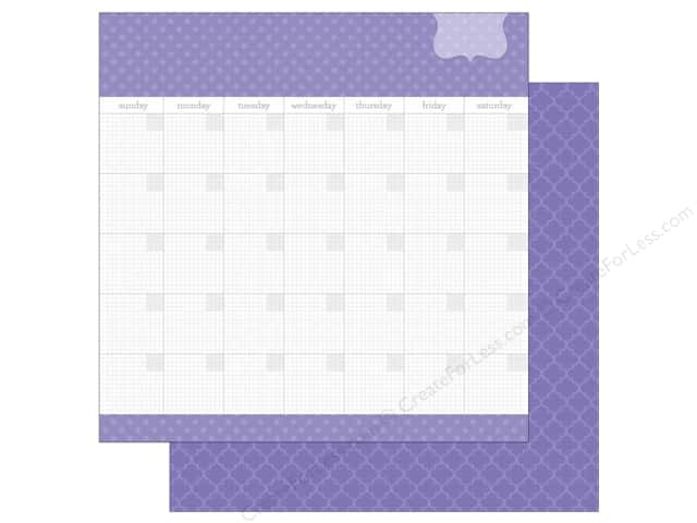Doodlebug 12 x 12 in. Paper Daily Doodles Lilac (25 sheets)