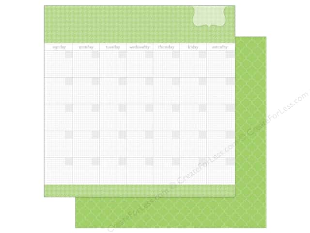 Doodlebug 12 x 12 in. Paper Daily Doodles Limeade (25 sheets)