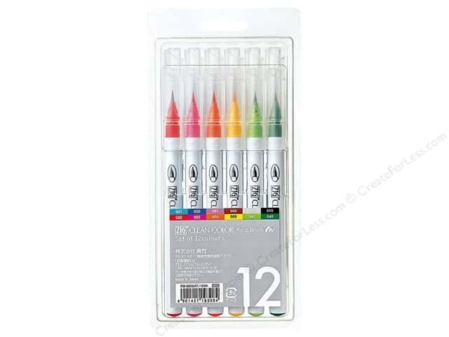 Zig Clean Color Real Brush Marker Set 12pc