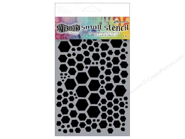 Ranger Dylusions 5 x 8 in. Stencil Honeycomb