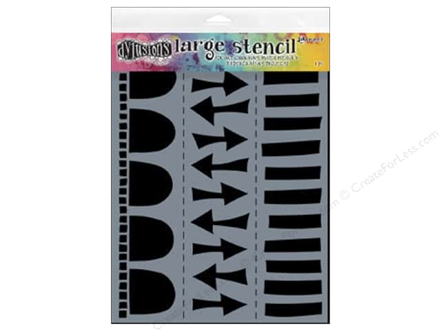 Ranger Dylusions 9 x 12 in. Stencil Border Arrow