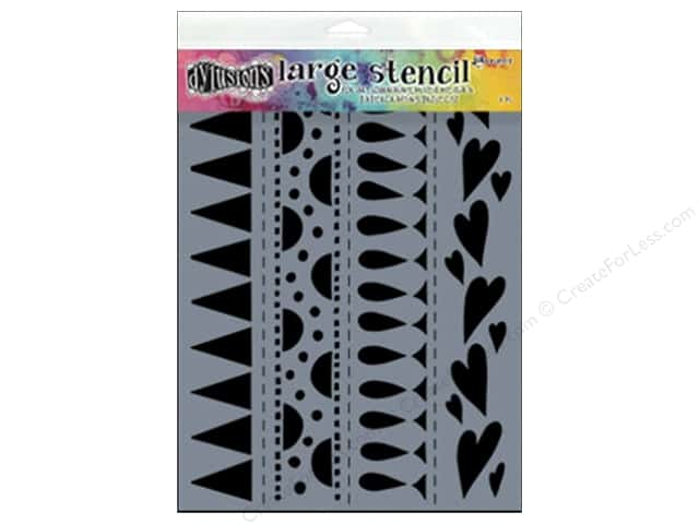 Ranger Dylusions 9 x 12 in. Stencil Border Heart