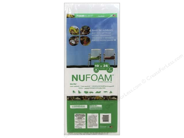 "Fairfield Foamology NuFoam Pad/Bumper 10""x 26""x 1"" 6pc"