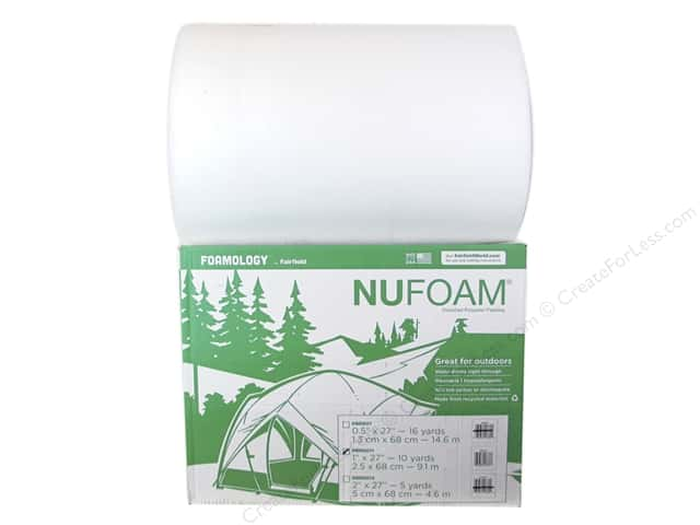 "Fairfield Foamology NuFoam 27""x 1""x 10yd Roll with Dispenser (10 yards)"