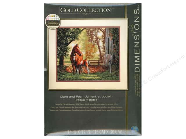 Dimensions Counted Cross Stitch Kit 14 x 12 in. Mare & Foal