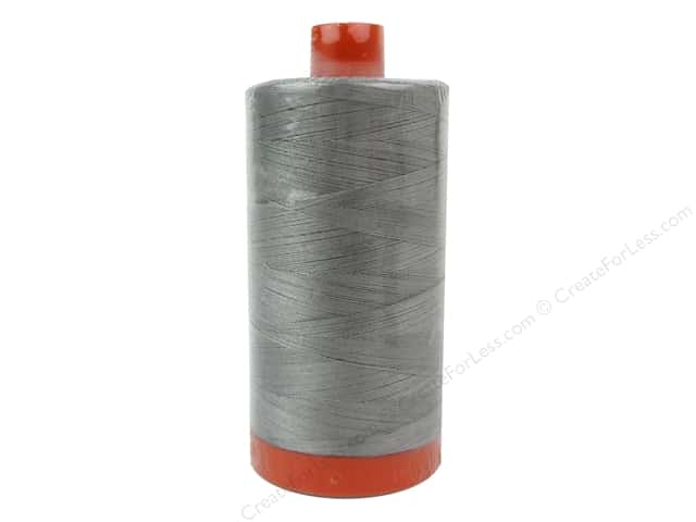 Aurifil Mako Cotton Quilting Thread 50 wt. Stainless Steel 1420 yd.