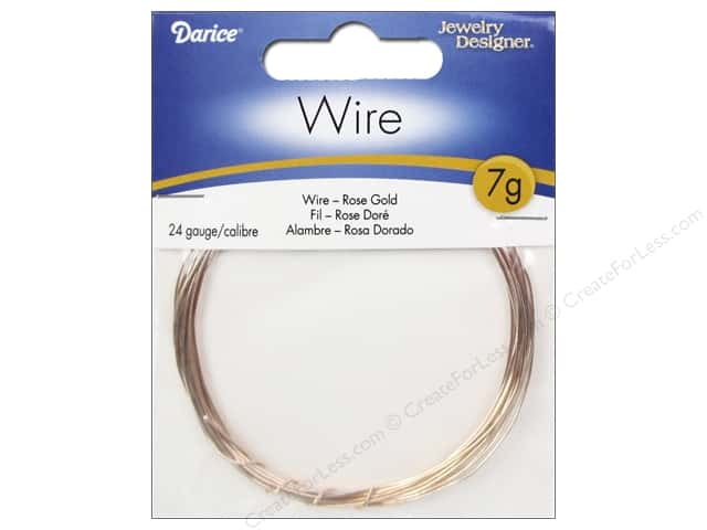Darice Jewelry Wire Aluminum Jewelry Designer 24Ga Rose Gold 7gr