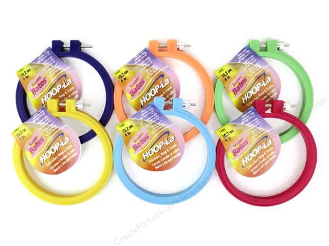 Susan Bates Hoop-La Embroidery Hoops 4 in. 1 pc.