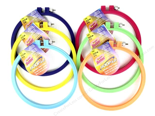 Susan Bates Hoop-La Embroidery Hoops 6 in. 1 pc.