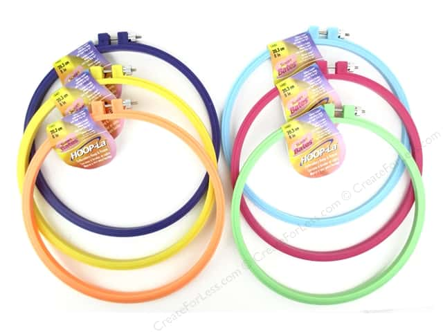 Susan Bates Hoop-La Embroidery Hoops 8 in. 1 pc.